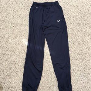 Nike Soccer dri-fit Navy drawstring track pants